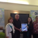 Mick, Jenny & Anne Andrews, Marpet Fund, accepting Sapphire Ticket.