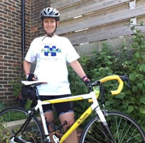 Sally cycling for AASC